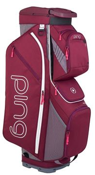 Picture of Ping Traverse Cart Bag 2019 - Garnet/Heather Grey - 34149-10
