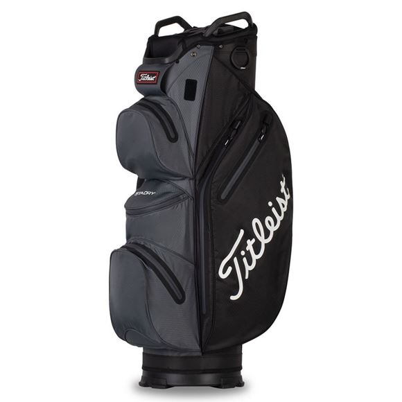 Picture of Titleist StaDry Waterproof Cart Bag 2021 - Black/Charcoal