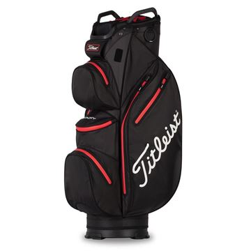 Picture of Titleist StaDry Waterproof Cart Bag 2021 - Black/Red