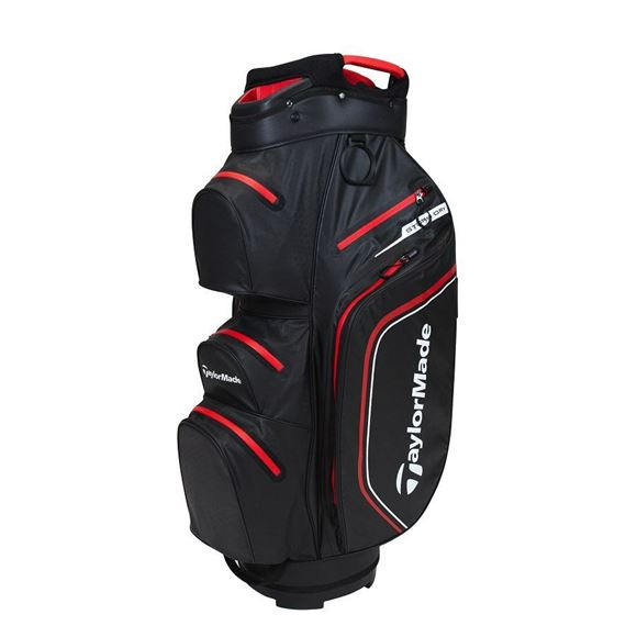 Picture of TaylorMade Storm Dry Waterproof Cart Bag - Black/Red