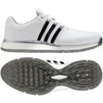 Picture of adidas Mens Tour 360 XT-SL Golf Shoes - White/Black Stripes