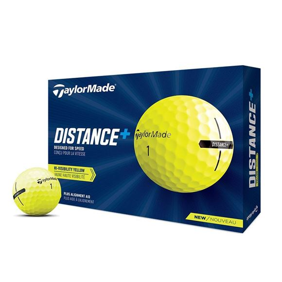 Picture of TaylorMade Distance + Golf Balls - Yellow
