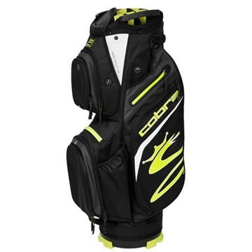Picture of Cobra Ultralight Cart Bag 2021 - Black/ Fluo Yellow