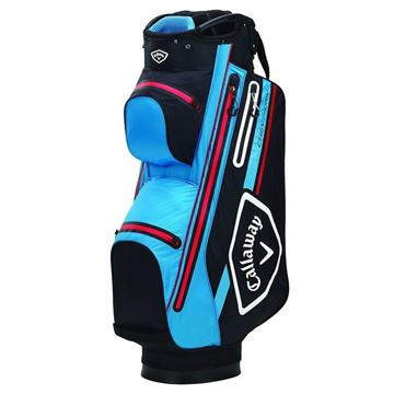 Picture of Callaway Chev 14 Dry Waterproof Cart Bag - Black/Cyan/Red
