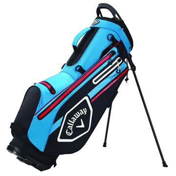 Picture of Callaway Chev Dry Waterproof Stand Bag - Black/Cyan/Red