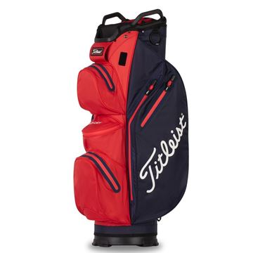 Picture of Titleist StaDry Waterproof Cart Bag 2021 - Navy/Red