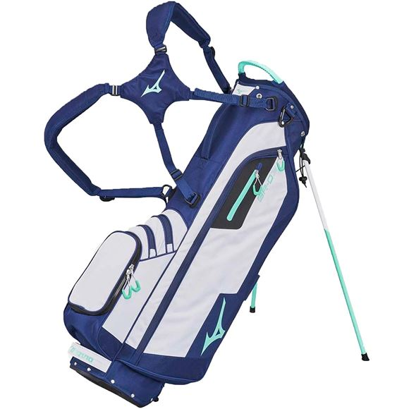 Picture of Mizuno BR-D3 Stand Bag - White/Navy/Mint