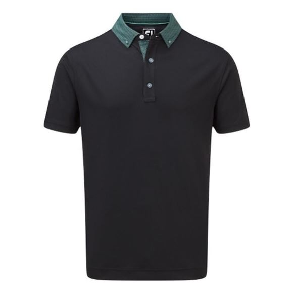 Picture of Footjoy Mens Stretch Pique Wicking Easy Care Golf Polo Shirt - 90098