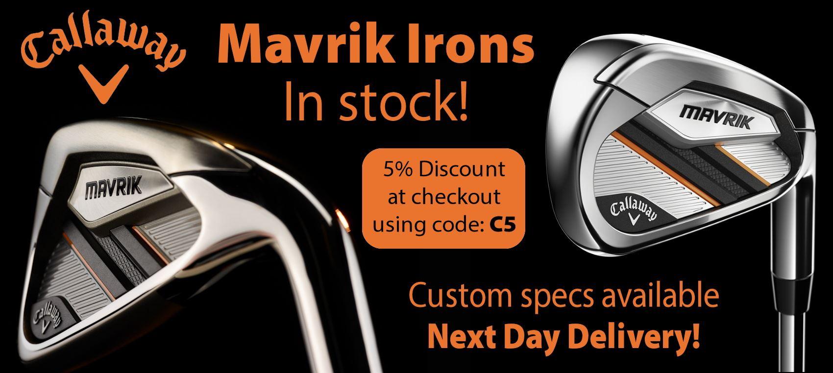 Callaway Mavrik Irons Steel **IN STOCK NEXT DAY DELIVERY**
