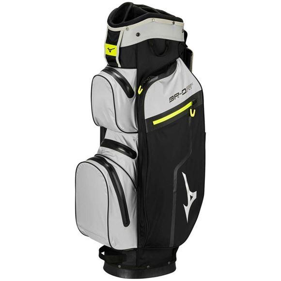 Picture of Mizuno BR-DRI Cart Bag - Black/Grey/Lime