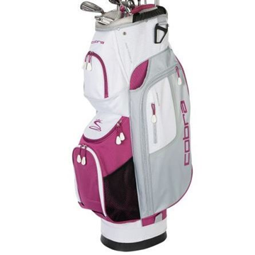 Picture of Cobra Fly XL Ladies Cart Bag - White/Grey/Purple *NEXT DAY DELIVERY*