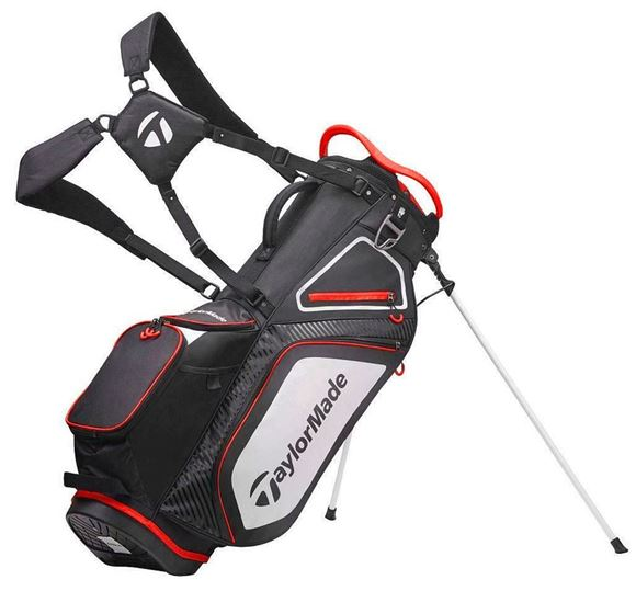Picture of TaylorMade Pro 8.0 Stand Bag - Black/White/Red