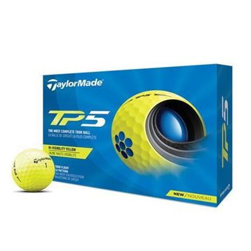 Picture of TaylorMade TP5 Golf Balls - 2021 Model - Hi-Visibility Yellow