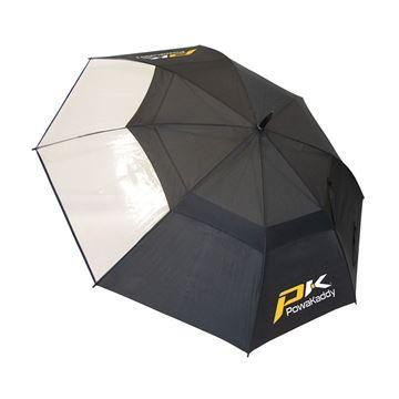Picture of Powakaddy Double Canopy Umbrella - Black/Clear
