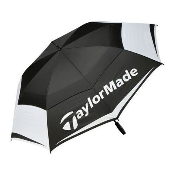 """Picture of TaylorMade Double Canopy 64"""" Umbrella - Black/White"""