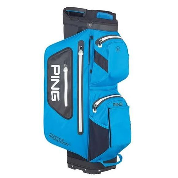 Picture of Ping Pioneer Monsoon Waterproof Cart Bag 2021 - Black/Blue