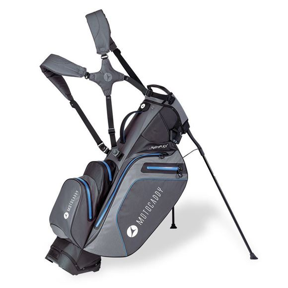 Picture of Motocaddy HydroFLEX Hybrid Cart and Stand Bag Waterproof - Charcoal/Blue