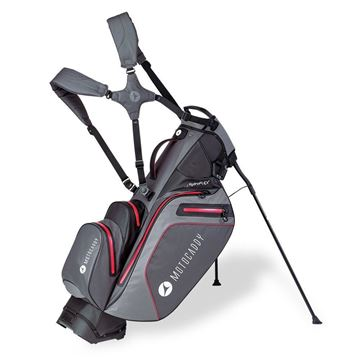 Picture of Motocaddy HydroFLEX Hybrid Cart and Stand Bag Waterproof - Charcoal/Red