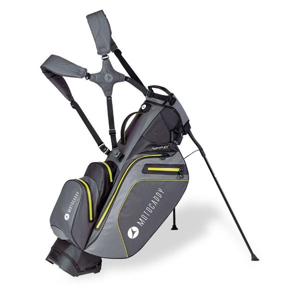 Picture of Motocaddy HydroFLEX Hybrid Cart and Stand Bag Waterproof - Charcoal/Lime