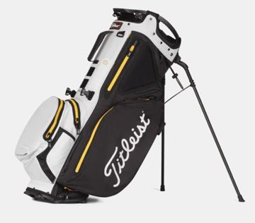 Picture of Titleist Hybrid 14 StaDry Waterproof Stand Bag - Black/White/Yellow