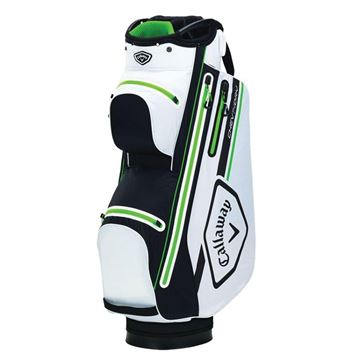 Picture of Callaway Chev 14 Dry Waterproof Cart Bag - White/Black/Lime