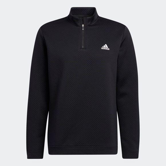 Picture of adidas Primegreen Water-Resistant Quarter-Zip Sweatshirt - Black - H53965