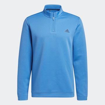 Picture of adidas Primegreen Water-Resistant Quarter-Zip Sweatshirt - Focus Blue - GU5809