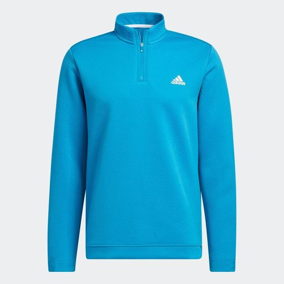 Picture of adidas Primegreen Water-Resistant Quarter-Zip Sweatshirt - Sonic Aqua - GU5088
