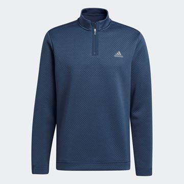 Picture of adidas Primegreen Water-Resistant Quarter-Zip Sweatshirt - Crew Navy - GR3105