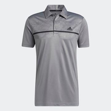 Picture of adidas Primegreen Print Polo Shirt - Grey - HA5575