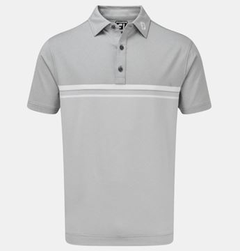 Picture of Footjoy Mens Lisle Engineered End on End Stripe Polo Shirt - 84466