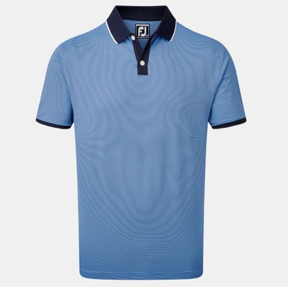 Picture of Footjoy Mens Pique Ministripe Polo Shirt - 90295