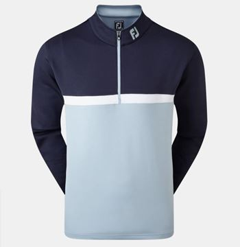 Picture of Footjoy Mens Colour Blocked Chill-Out Pullover - 90379