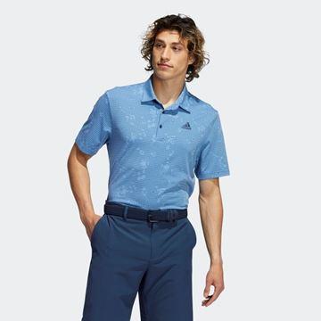 Picture of adidas Night Camo-Print Primegreen Polo Shirt - Blue - GU2666